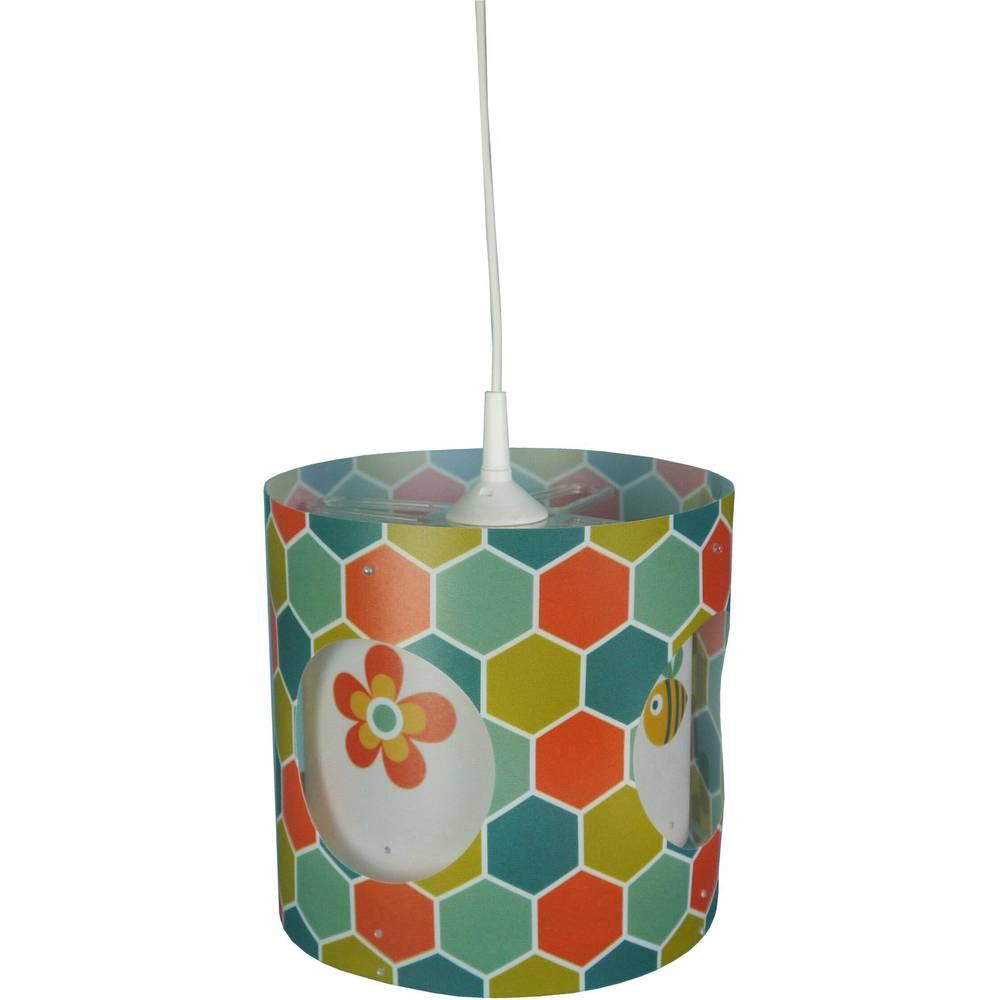 Niermann Explore květina závěsné světlo úsporná žárovka, LED E27 60 W barevná