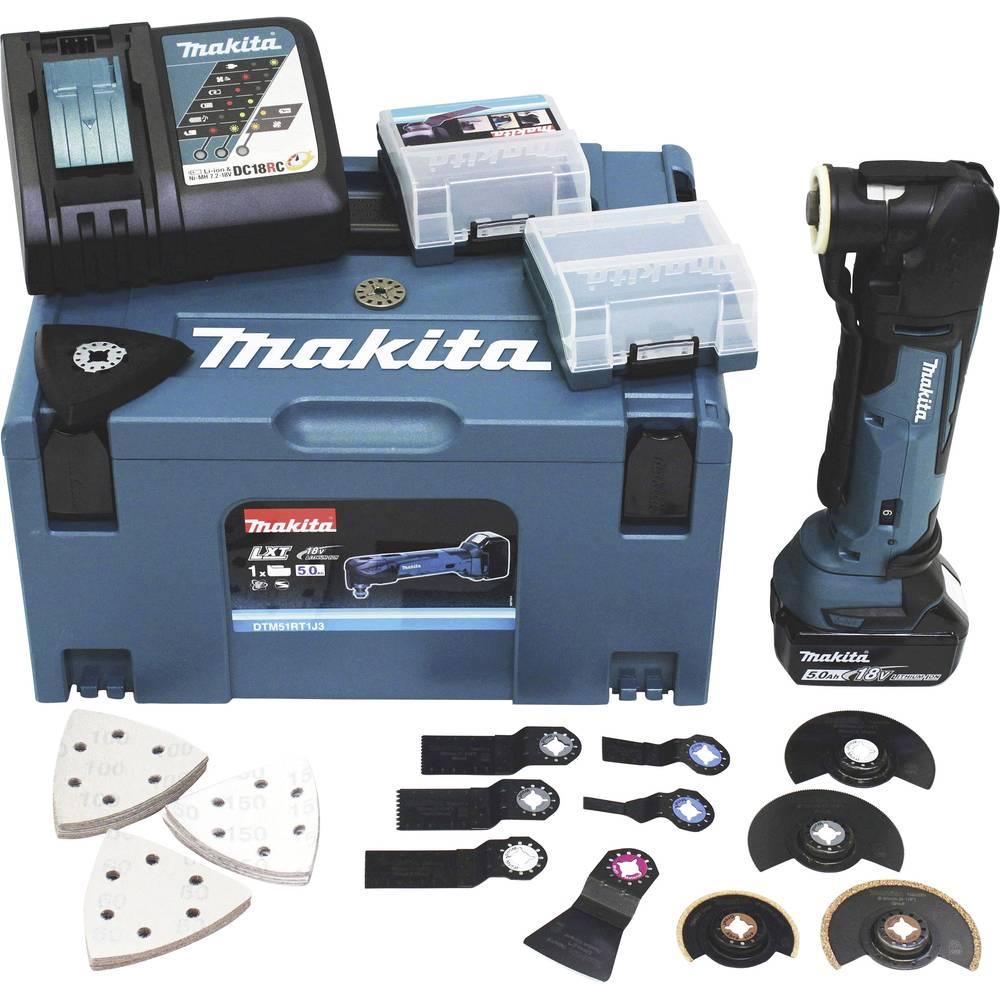 Makita DTM51RT1J3 DTM51RT1J3 akumulátorový multifunkční nástroj 18 V 5 Ah
