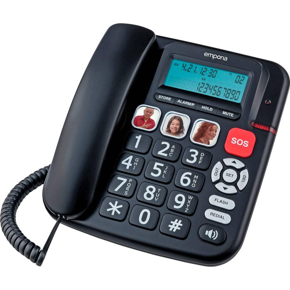 Emporia KFT19 šňůrový telefon pro seniory černá