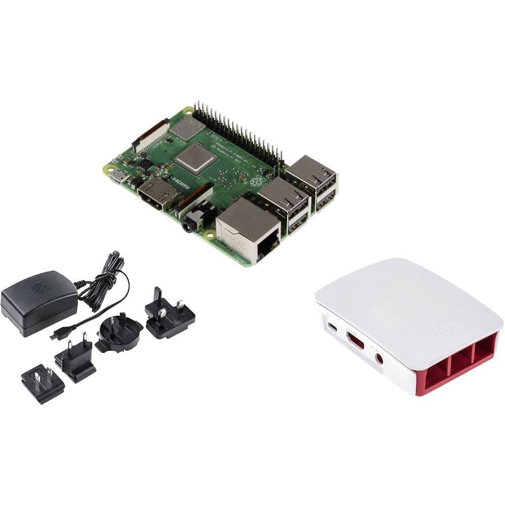 Raspberry Pi® Essentials Kit Raspberry Pi® 3 B+ 1 GB 4 x 1.4 GHz vč. napájecího zdroje, vč. pouzdra