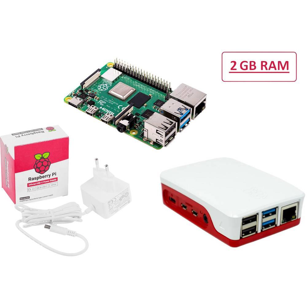 Raspberry Pi® Essentials Kit Raspberry Pi® 4 B 2 GB 4 x 1.5 GHz vč. napájecího zdroje, vč. pouzdra