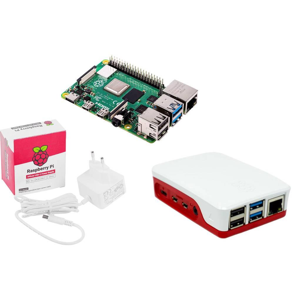 Raspberry Pi® Essentials Kit Raspberry Pi® 4 B 4 GB 4 x 1.5 GHz vč. napájecího zdroje, vč. pouzdra