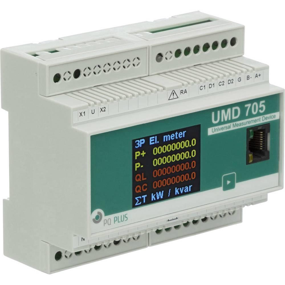 PQ Plus UMD 705E (24V) digitální měřič na DIN lištu UMD 705E (24V) univerzální měřicí přístroj na montážní lištu
