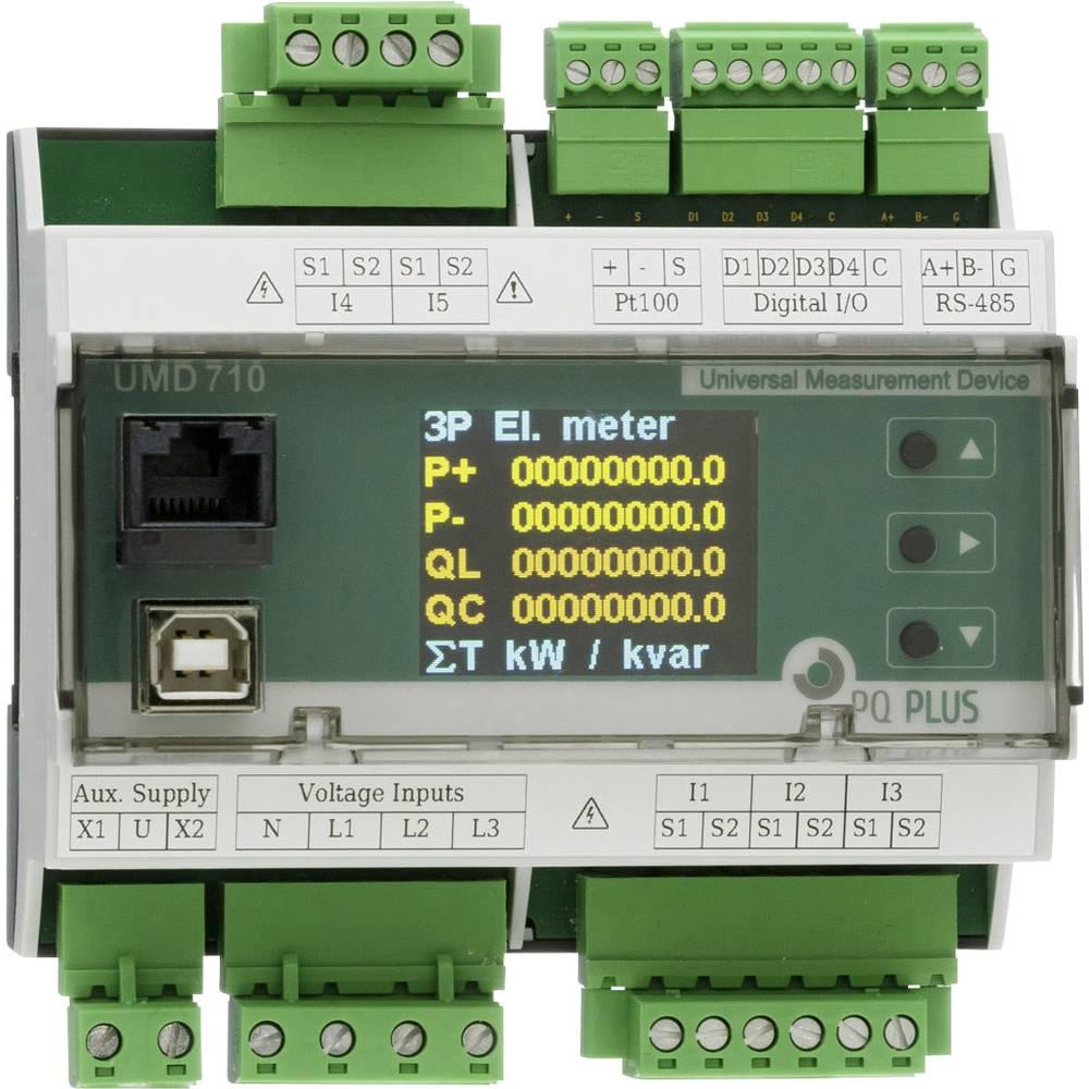 PQ Plus UMD 710A digitální měřič na DIN lištu UMD 710A univerzální měřicí přístroj na montážní lištu