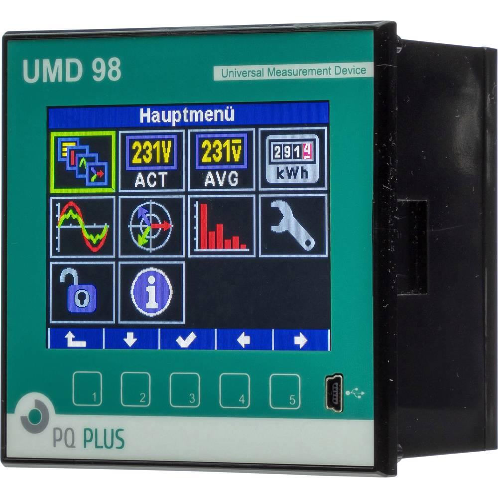 PQ Plus UMD 98RCM-T digitální panelový měřič UMD 98RCM-T univerzální měřicí přístroj pro montáž do rozvaděče