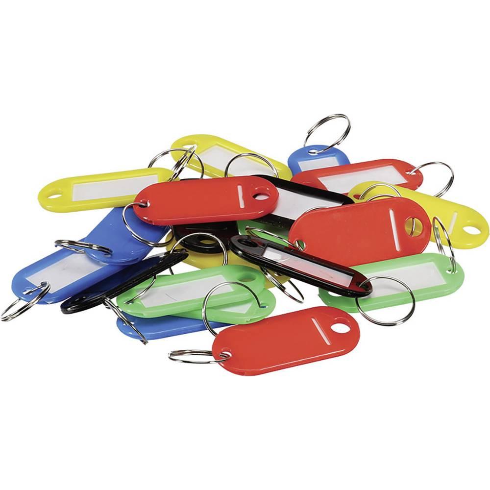 Perel věšák na klíče BG81001 smal černá, červená, modrá, zelená, žlutá 20 ks