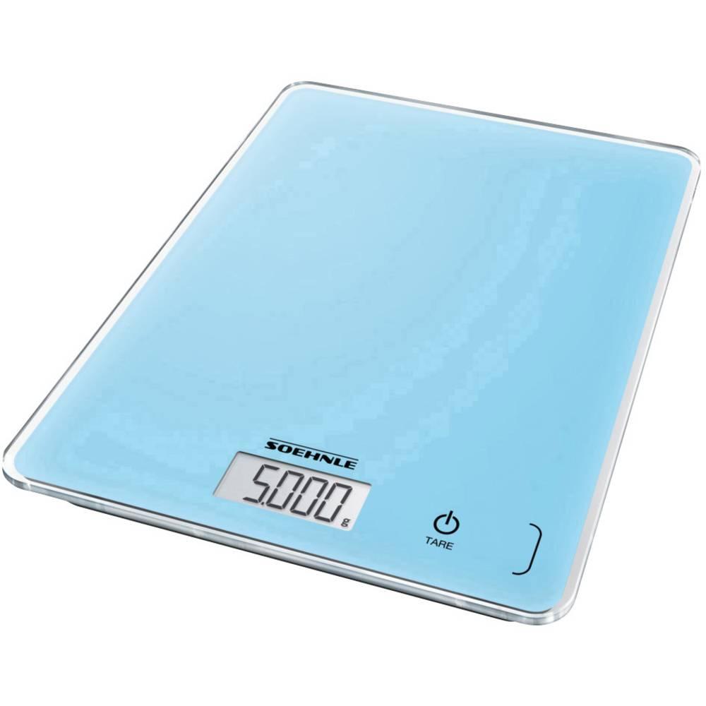 Soehnle KWD Page Compact 300 pale blue digitální kuchyňská váha s upevněním na stěnu Max. váživost=5 kg modrá