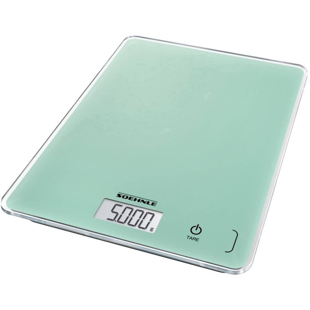 Soehnle KWD Page Compact 300 Mint digitální kuchyňská váha s upevněním na stěnu Max. váživost=5 kg mátová