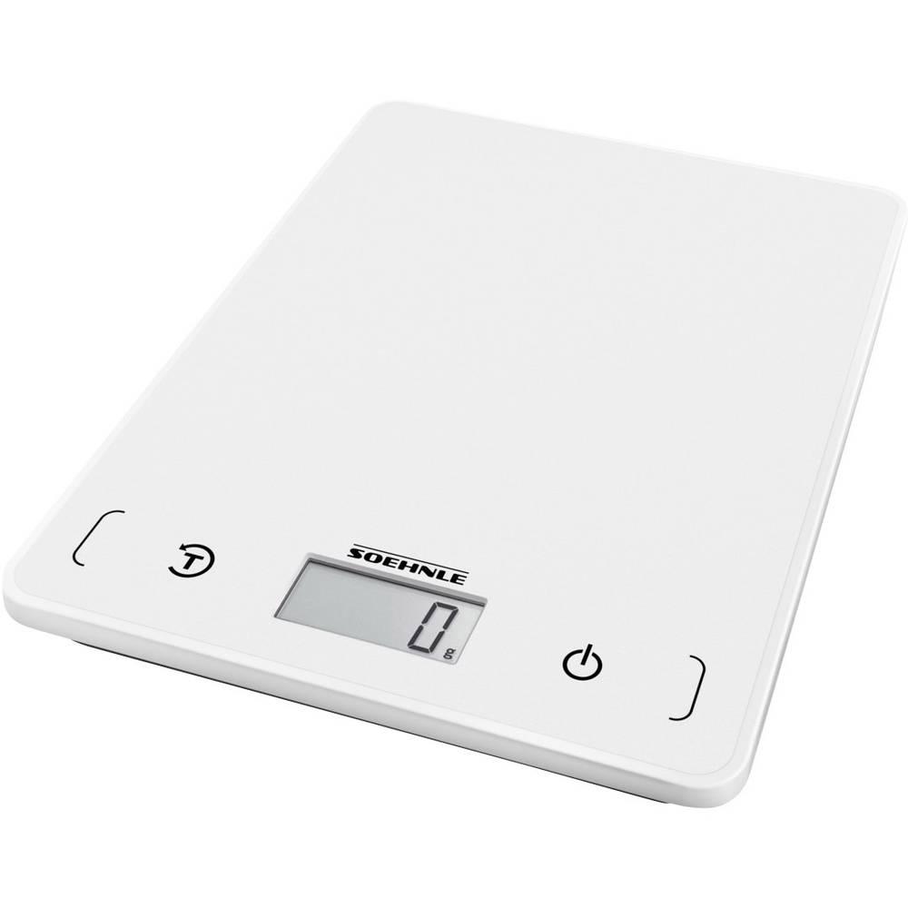 Soehnle KWD Page Compact 200 digitální kuchyňská váha s upevněním na stěnu Max. váživost=5 kg bílá