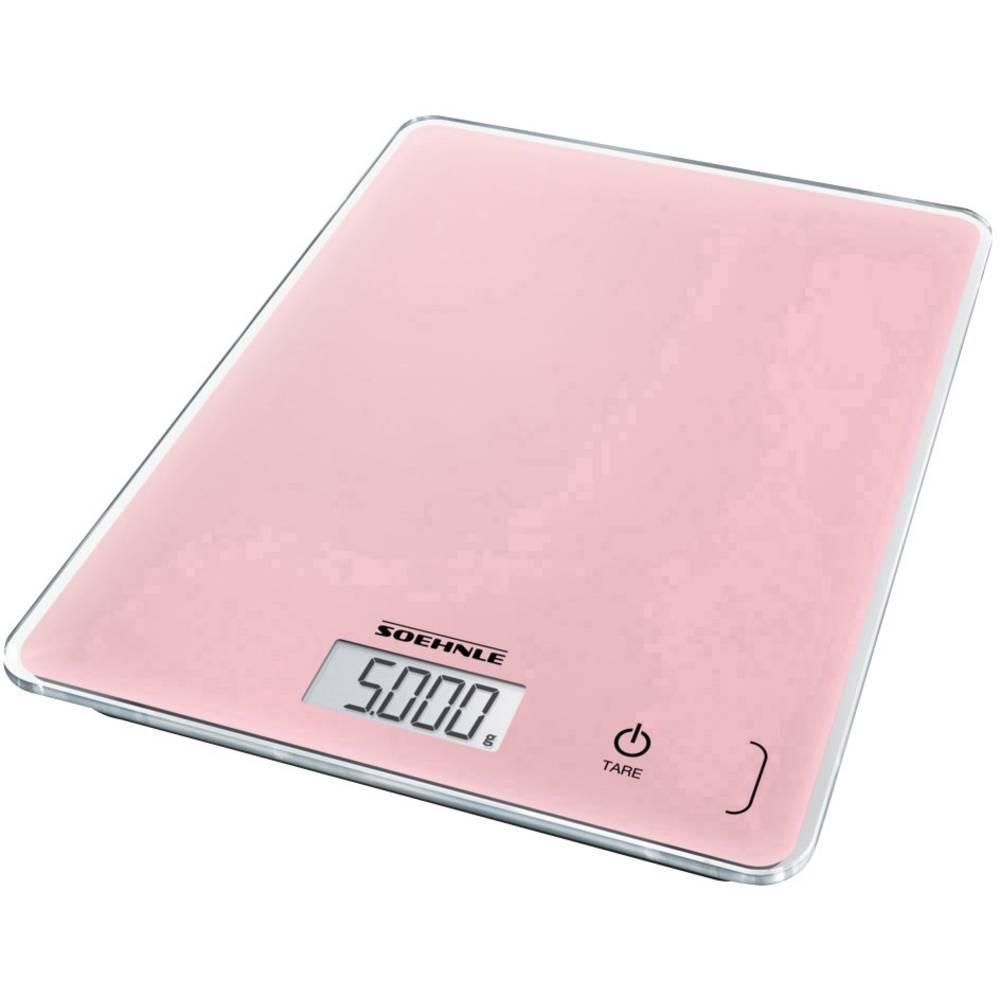 Soehnle KWD Page Compact 300 Delicate Rosé digitální kuchyňská váha s upevněním na stěnu Max. váživost=5 kg růžová