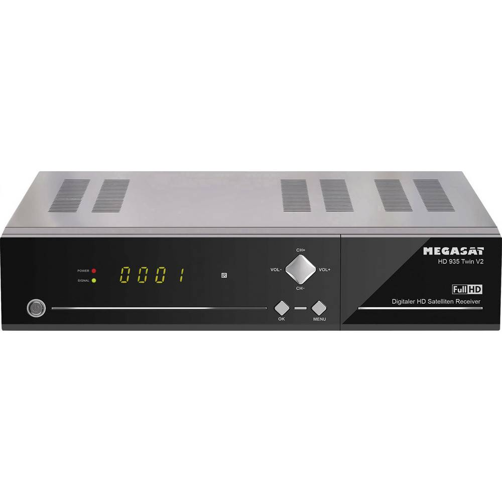 MegaSat HD 935 Twin V2 satelitní HD přijímač s funkcí nahrávání, ethernetová přípojka, Twin Tuner počet tunerů: 2