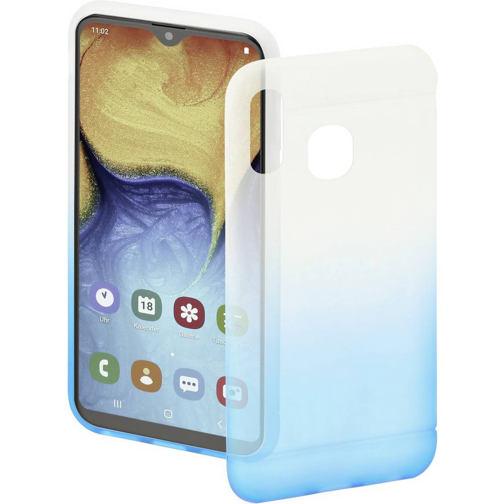 Hama Cover Colorful zadní kryt na mobil Samsung Galaxy A20e modrá, transparentní