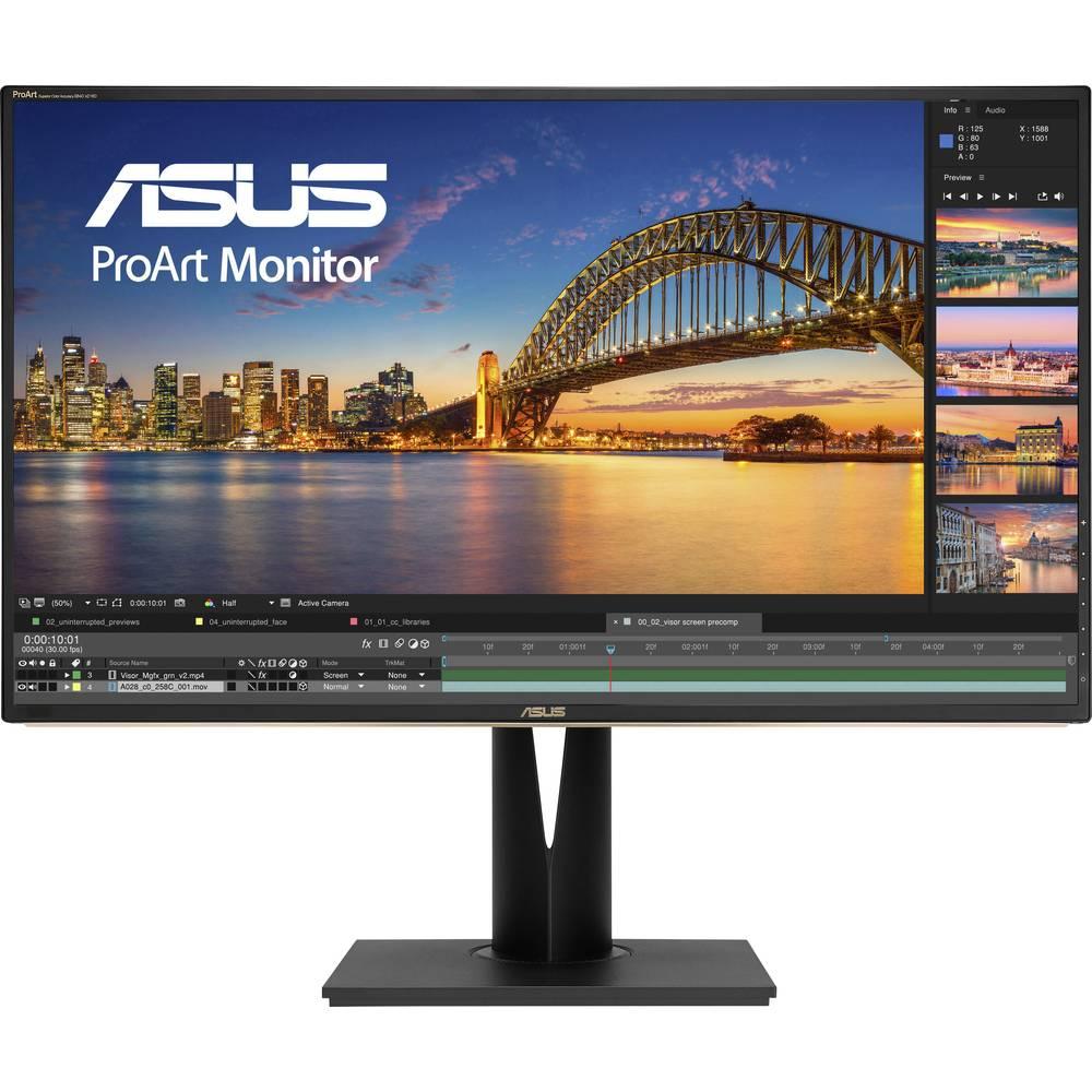 Asus PA329C LED monitor 81.3 cm (32 palec) Energetická třída (EEK2021) G (A - G) 3840 x 2160 Pixel UHD 2160p (4K) 5 ms HDMI™, DisplayPort, USB-C™, USB 3.2 Gen 1 (USB 3.0), na sluchátka (jack 3,5 mm) IPS LED