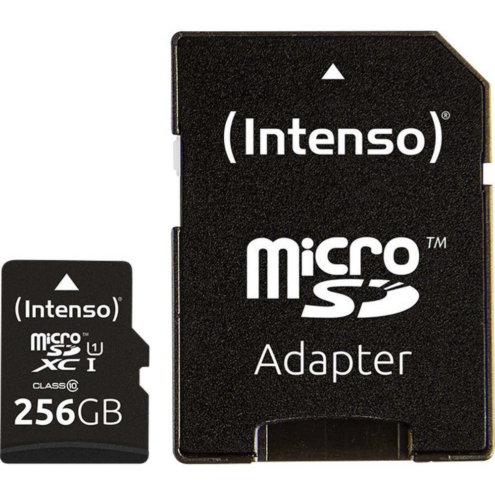 Intenso Premium paměťová karta microSDXC 256 GB Class 10, UHS-I vč. SD adaptéru