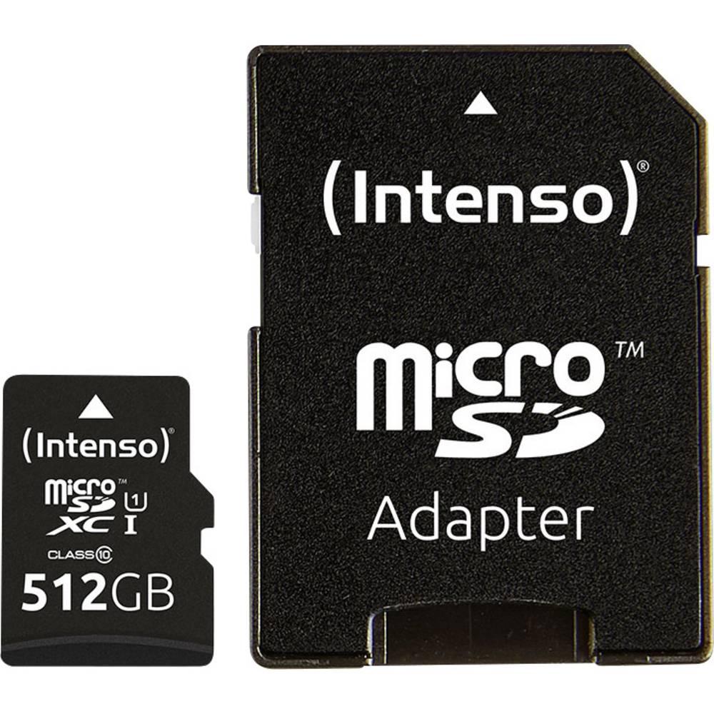Intenso Premium paměťová karta microSDXC 512 GB Class 10, UHS-I vč. SD adaptéru