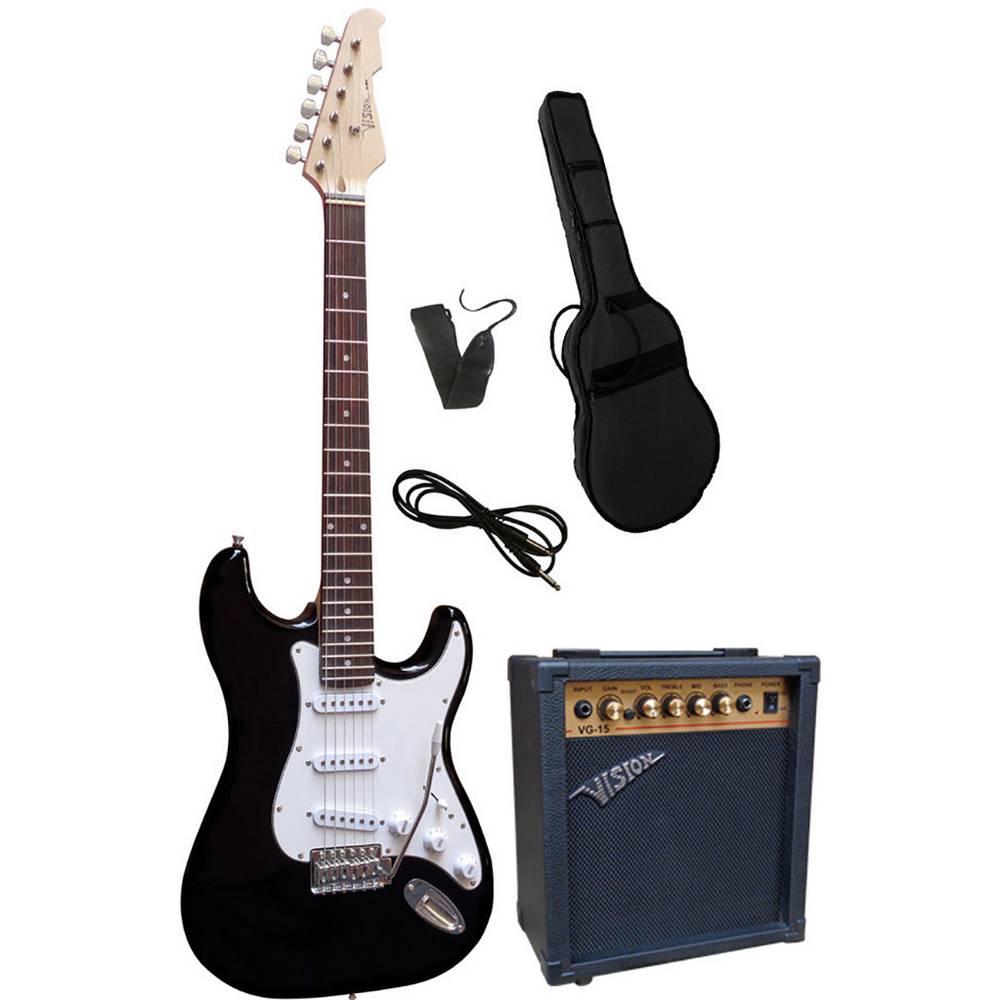 Vision Guitar VG 15 sada elektronické kytary černá vč. tašky, vč. zesilovače