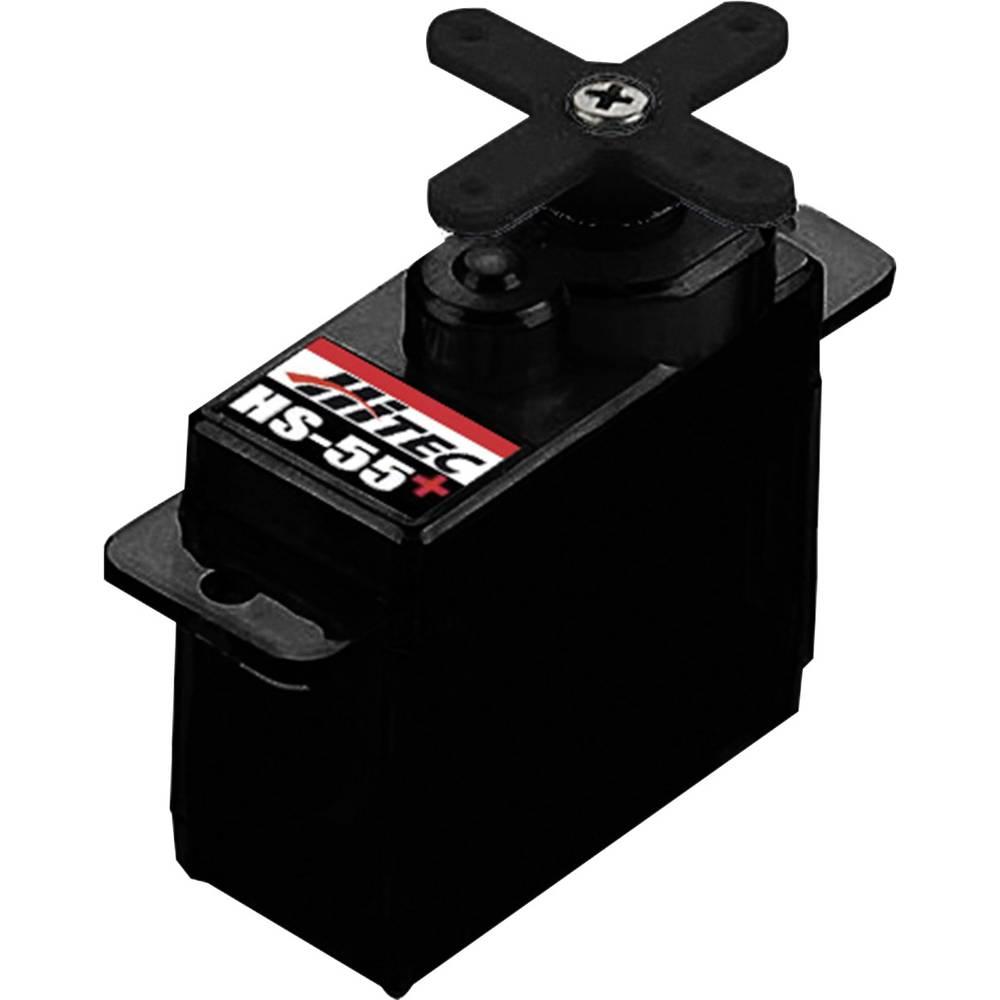 Hitec mini servo HS-55+ analogové servo Materiál převodovky: plast
