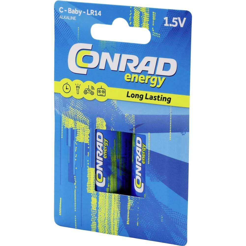 Conrad energy LR14 baterie malé mono C alkalicko-manganová 7500 mAh 1.5 V 2 ks