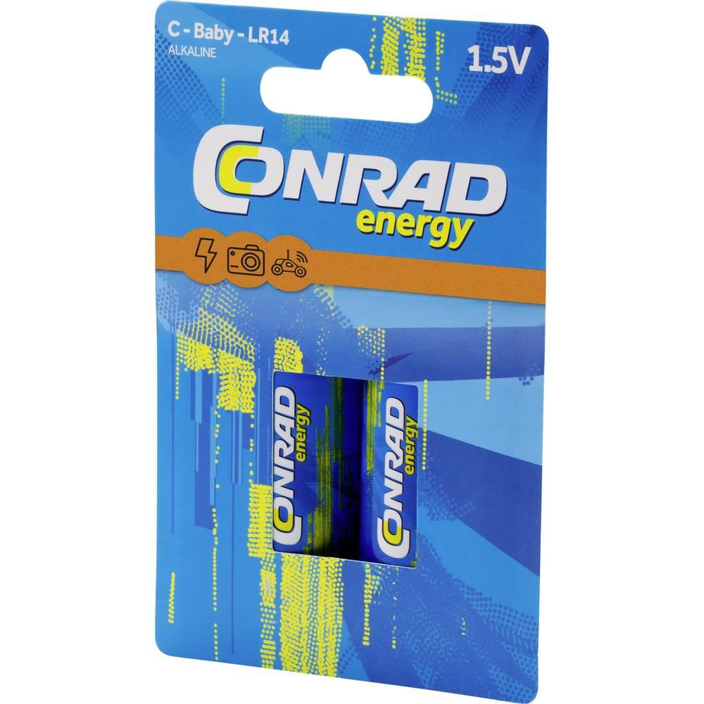 Conrad energy Extreme Power LR14 baterie malé mono C alkalicko-manganová 8000 mAh 1.5 V 2 ks