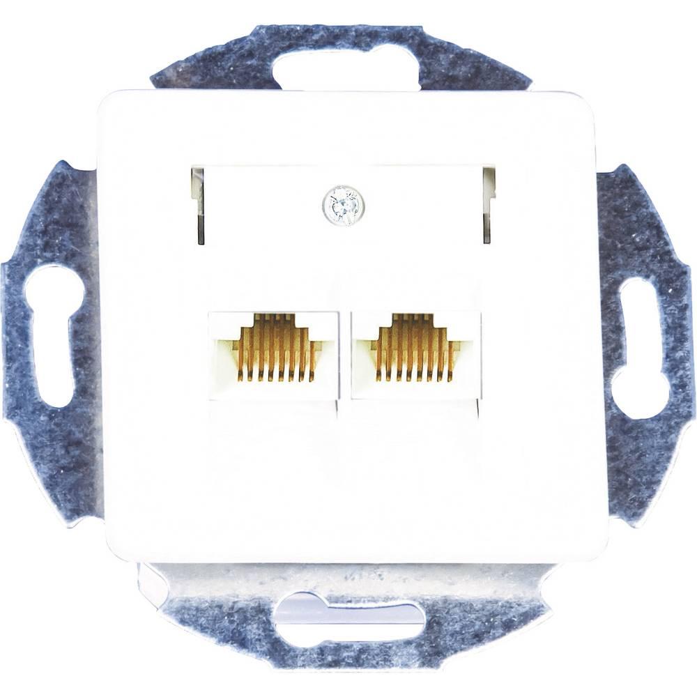 KOMOS 19823BBG ISDN zásuvka pod omítku, montáž na zeď čistě bílá (RAL 9010)