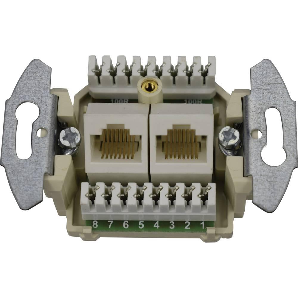 KOMOS 19821ABG ISDN zásuvka pod omítku, montáž na zeď čistě bílá (RAL 9010)