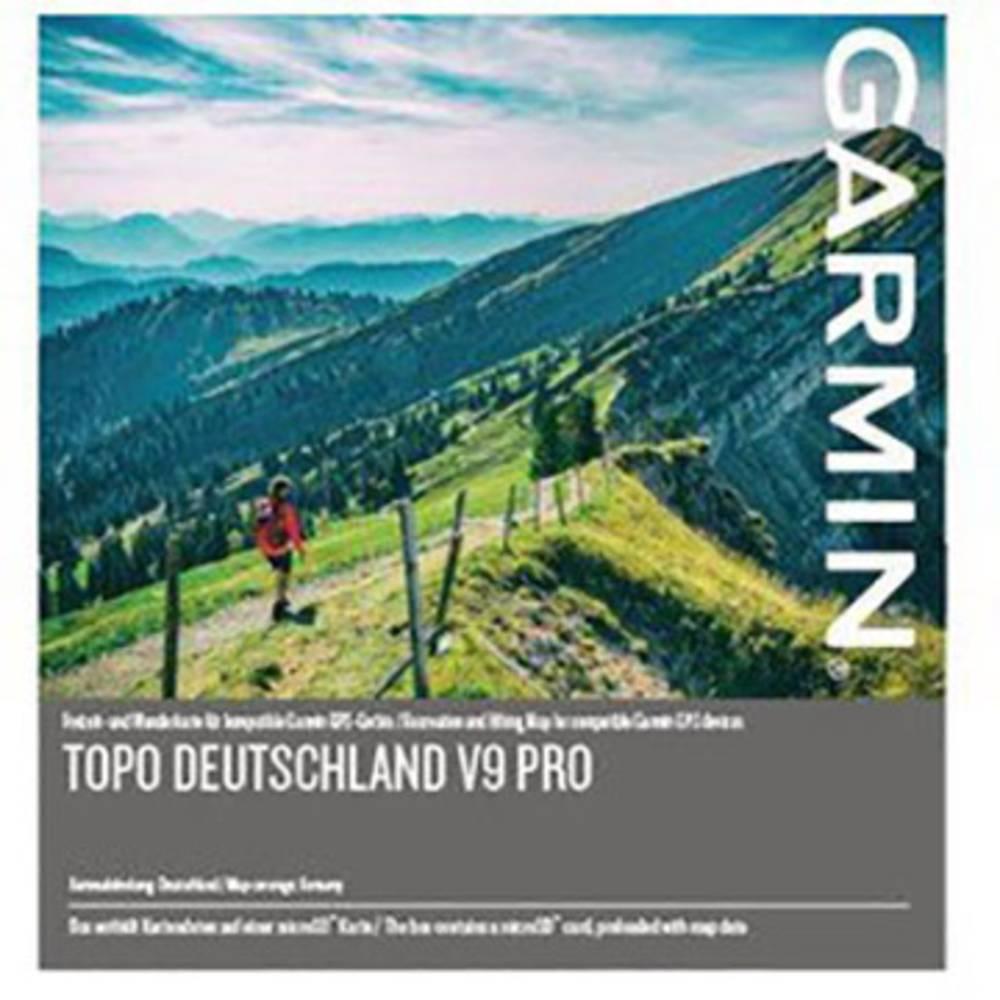 Garmin TOPO Germany v9 PRO turistická outdoorová mapa kolo, geocaching, lyže, turistika Německo