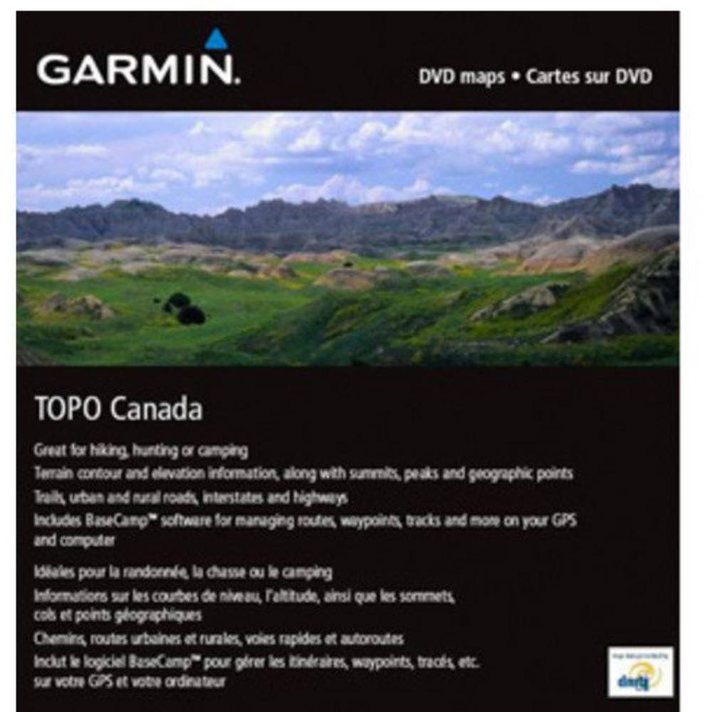 Garmin Topo CanadaMicroSD/SD turistická outdoorová mapa kolo, geocaching, lyže, turistika Kanada