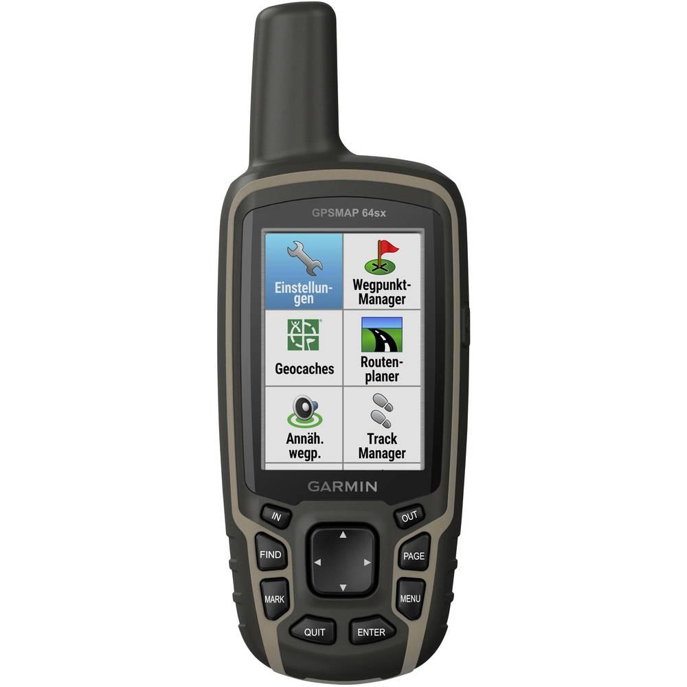 Garmin GPSMAP 64x outdoorová navigace kolo, geocaching, turistika svět GLONASS , GPS , chráněné proti stříkající vodě