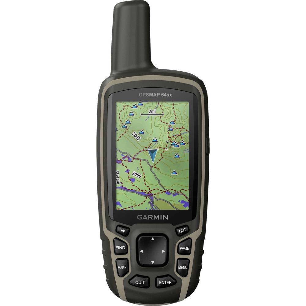 Garmin GPSMAP 64sx outdoorová navigace kolo, geocaching, turistika svět Bluetooth® , GLONASS , GPS , chráněné proti stříkající vodě