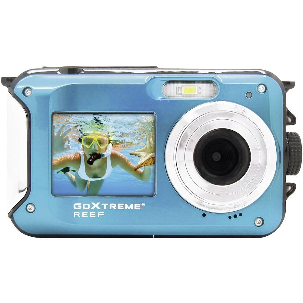 GoXtreme Reef Blue digitální fotoaparát 24 MPix modrá Full HD videozáznam, vodotěsný do 3 m, voděodolný, odolný proti nárazu, s vestavěným bleskem