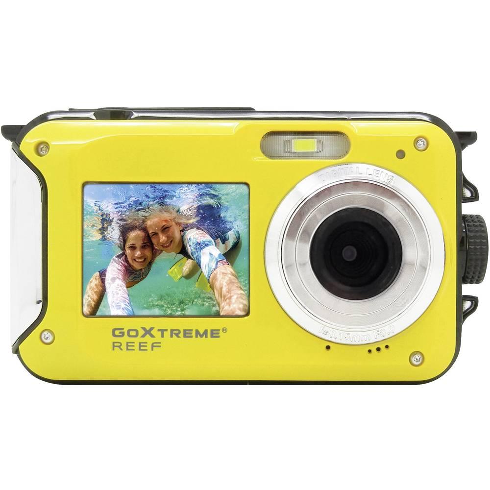 GoXtreme Reef Yellow digitální fotoaparát 24 MPix žlutá Full HD videozáznam, vodotěsný do 3 m, voděodolný, odolný proti nárazu, s vestavěným bleskem