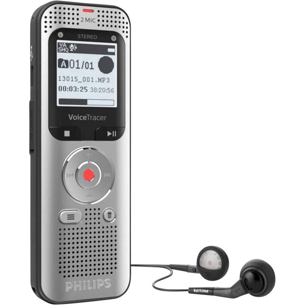 Philips DVT-2050 digitální diktafon Maximální čas nahrávání 12 h černá, stříbrná