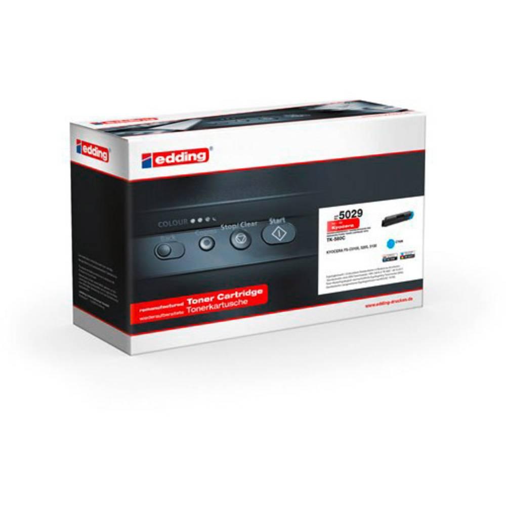 Edding toner náhradní Kyocera TK-580C kompatibilní azurová 2800 Seiten EDD-5029