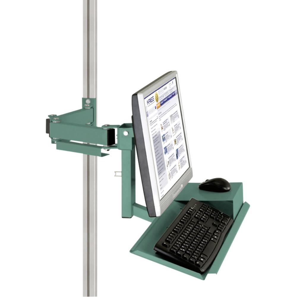 Manuflex ZB8285.0001 Standardní držák pro monitor CANTOLAB a hliník s klávesnice a myši plochou, VESA adaptér 75 mm