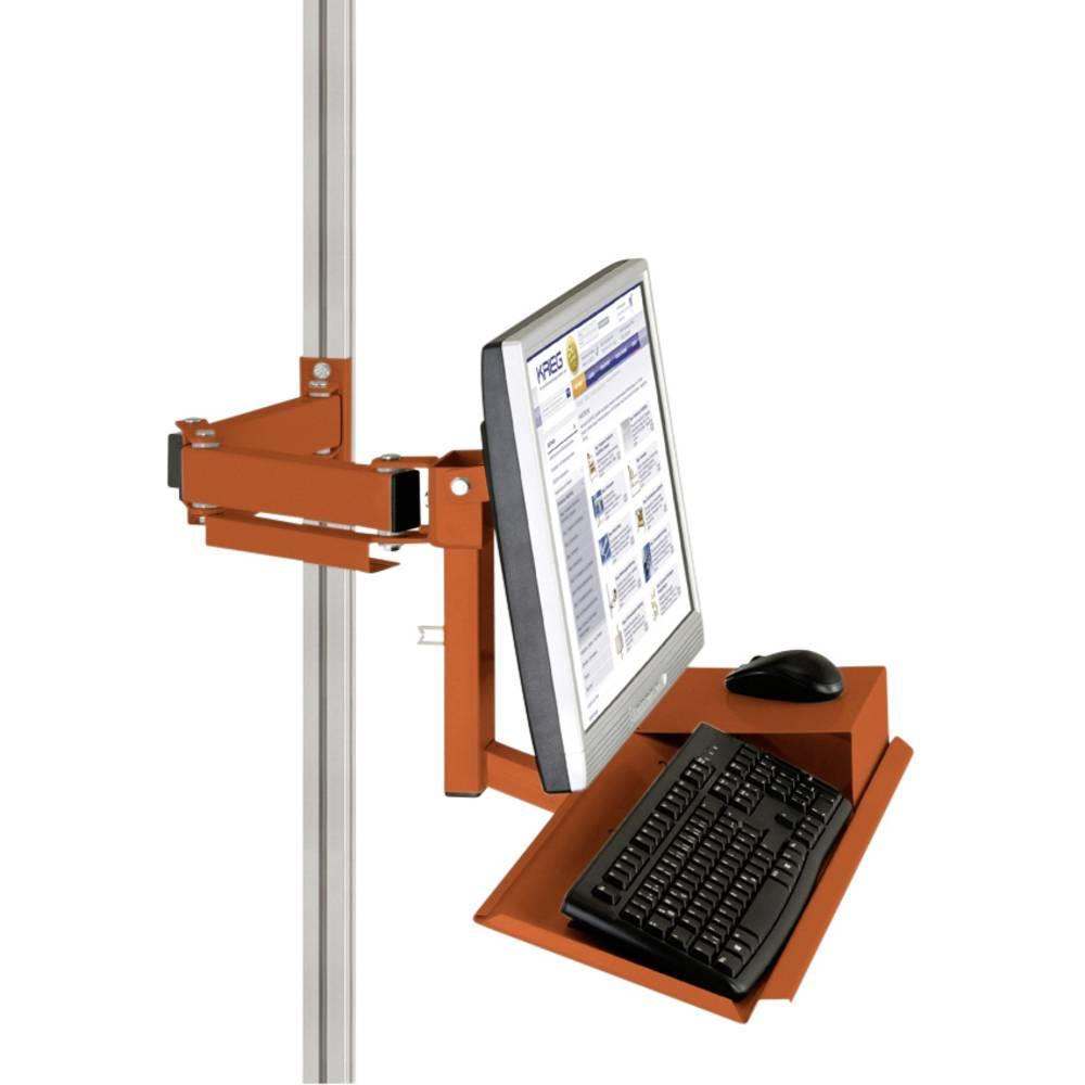 Manuflex ZB8285.2001 Standardní držák pro monitor CANTOLAB a hliník s klávesnice a myši plochou, VESA adaptér 75 mm