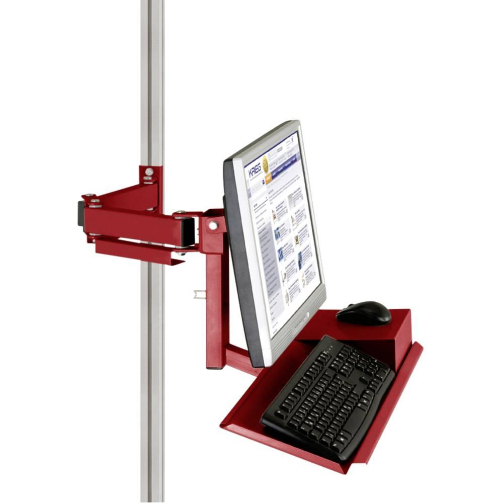 Manuflex ZB8285.3003 Standardní držák pro monitor CANTOLAB a hliník s klávesnice a myši plochou, VESA adaptér 75 mm
