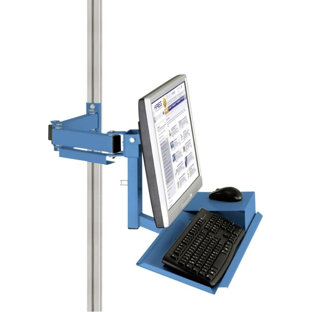 Manuflex ZB8285.5012 Standardní držák pro monitor CANTOLAB a hliník s klávesnice a myši plochou, VESA adaptér 75 mm