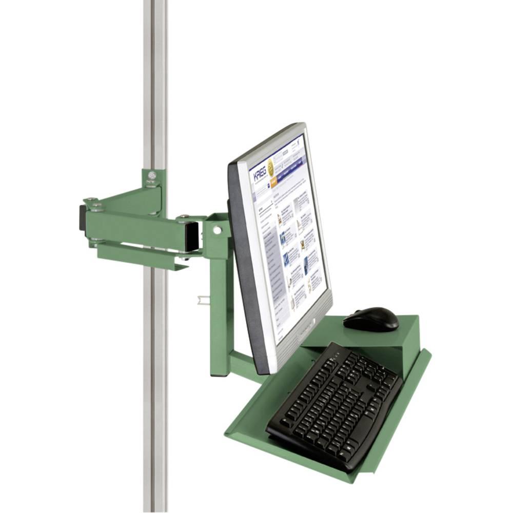 Manuflex ZB8285.6011 Standardní držák pro monitor CANTOLAB a hliník s klávesnice a myši plochou, VESA adaptér 75 mm