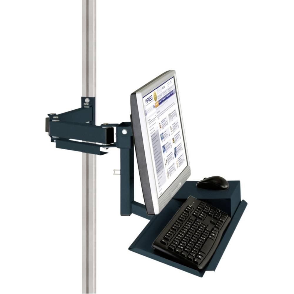 Manuflex ZB8285.7016 Standardní držák pro monitor CANTOLAB a hliník s klávesnice a myši plochou, VESA adaptér 75 mm
