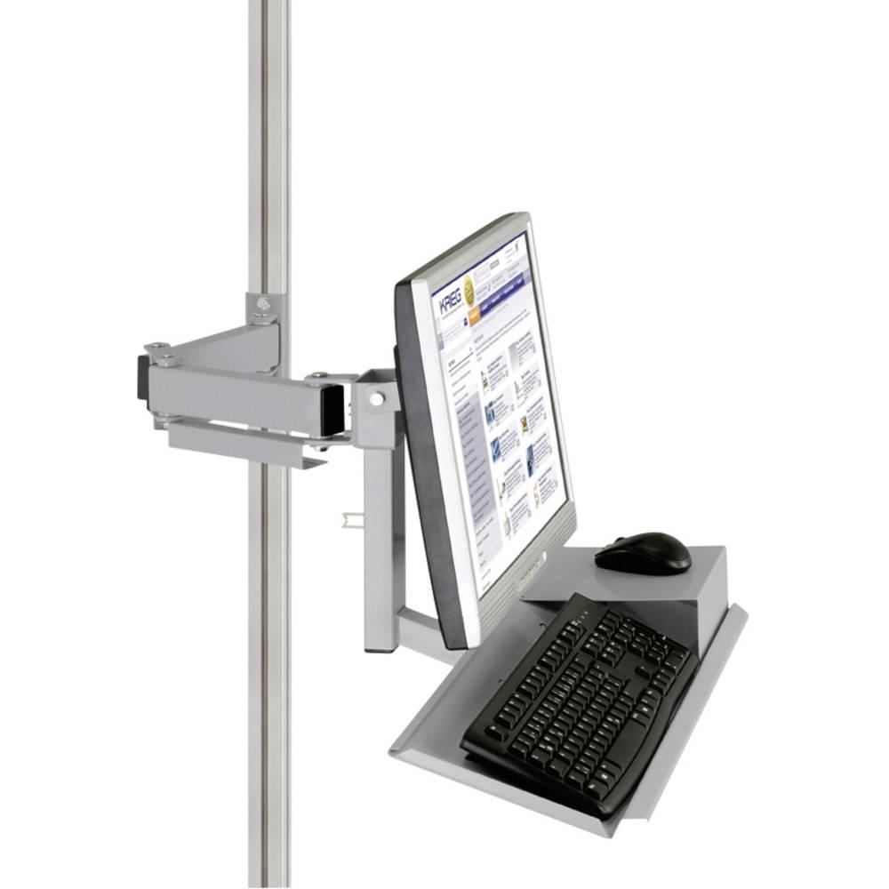 Manuflex ZB8285.9006 Standardní držák pro monitor CANTOLAB a hliník s klávesnice a myši plochou, VESA adaptér 75 mm