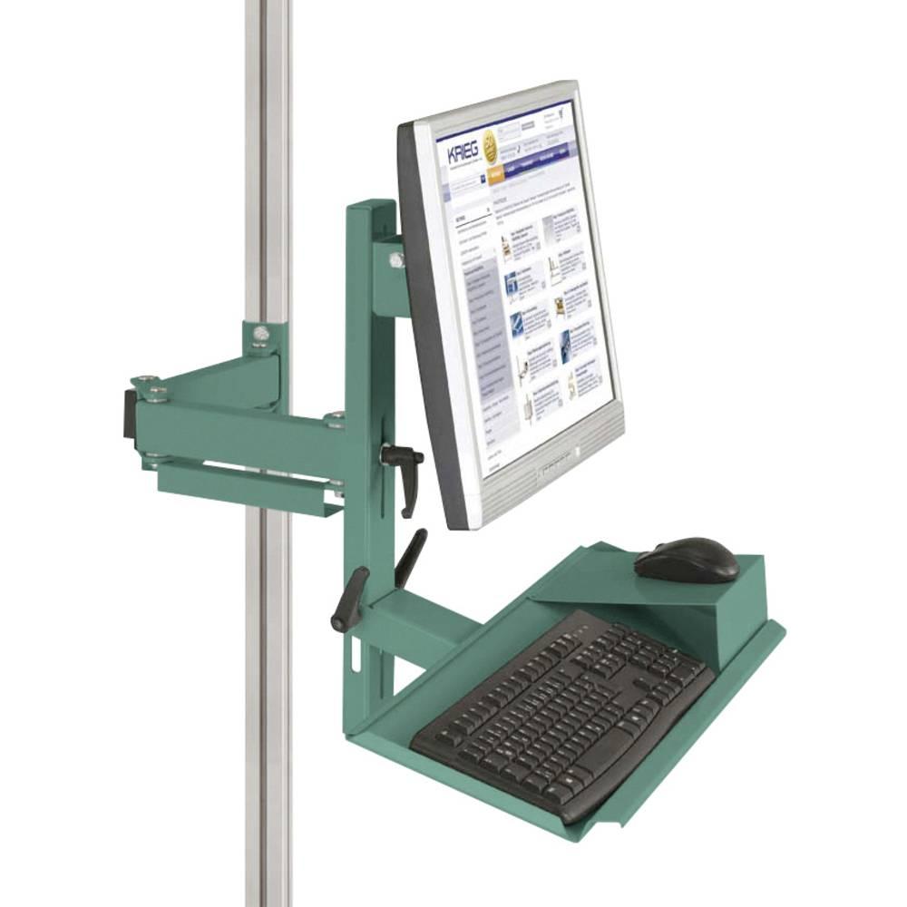 Manuflex ZB8287.0001 Ergonomie monitor nosič pro CANTOLAB a hliník s klávesnice a myši plochou, VESA adaptér 75 mm