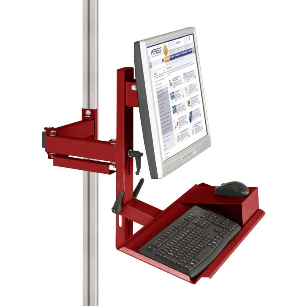 Manuflex ZB8287.3003 Ergonomie monitor nosič pro CANTOLAB a hliník s klávesnice a myši plochou, VESA adaptér 75 mm