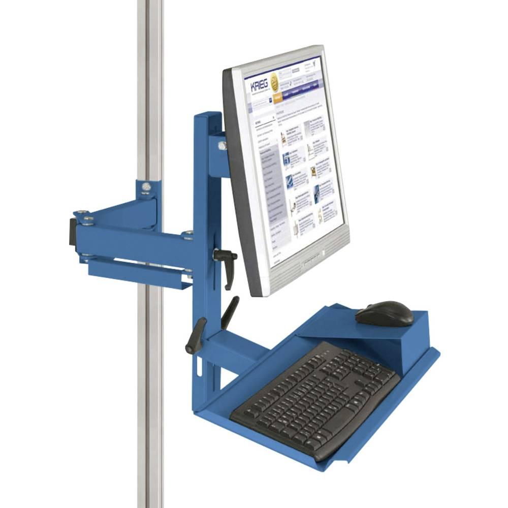 Manuflex ZB8287.5007 Ergonomie monitor nosič pro CANTOLAB a hliník s klávesnice a myši plochou, VESA adaptér 75 mm