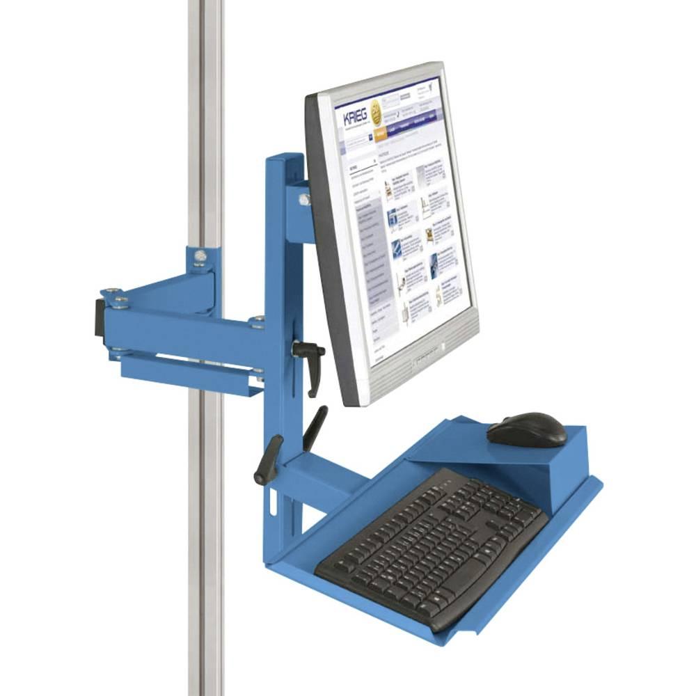 Manuflex ZB8287.5012 Ergonomie monitor nosič pro CANTOLAB a hliník s klávesnice a myši plochou, VESA adaptér 75 mm