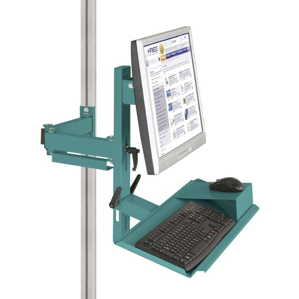 Manuflex ZB8287.5021 Ergonomie monitor nosič pro CANTOLAB a hliník s klávesnice a myši plochou, VESA adaptér 75 mm