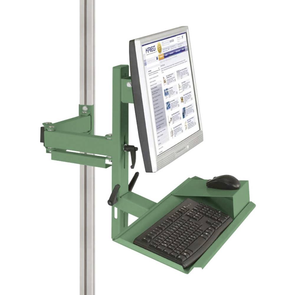 Manuflex ZB8287.6011 Ergonomie monitor nosič pro CANTOLAB a hliník s klávesnice a myši plochou, VESA adaptér 75 mm