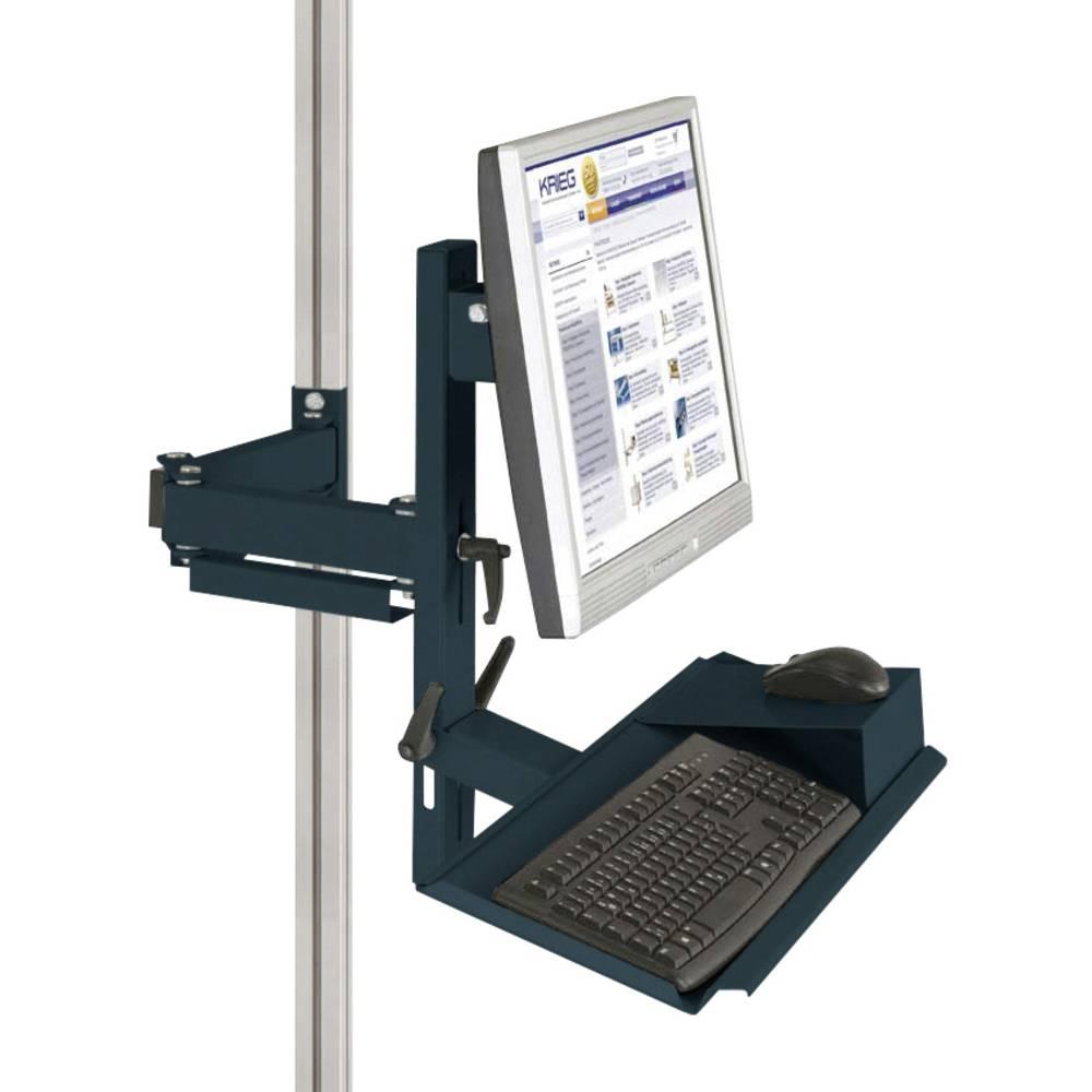 Manuflex ZB8287.7016 Ergonomie monitor nosič pro CANTOLAB a hliník s klávesnice a myši plochou, VESA adaptér 75 mm