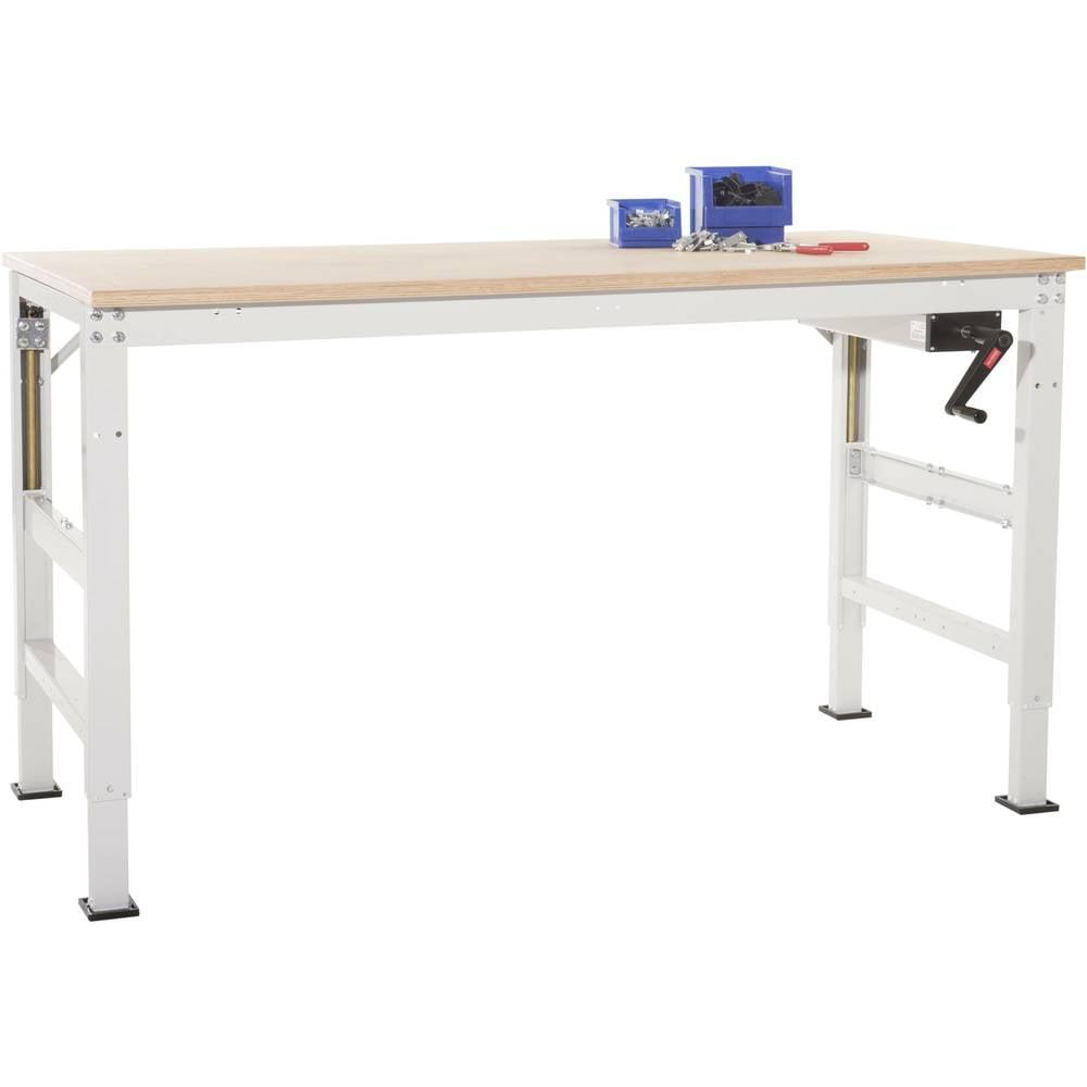 Manuflex AU9015.6011 Pracovní základní stolní univerzální Ergo K s multiplex deska, Šxhxv = 1000 x 800 x 722-1022 mm Barva: rezedově zelená (RAL 6011)