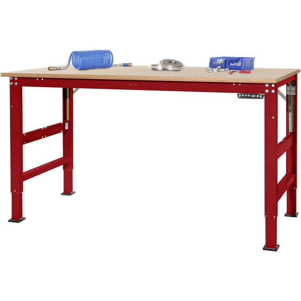 Manuflex AU9585.3003 Pracovní základní stolní univerzální Ergo E memory s multiplex deska, Šxhxv = 1750 x 800 x 722-1002 mm Barva: rubínově červená