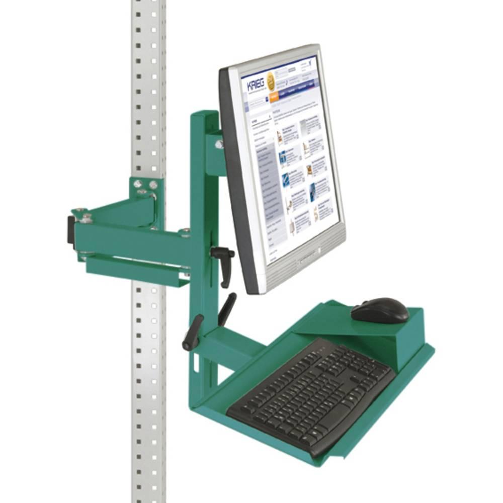 Manuflex ZB3627.0001 Ergonomie monitor nosič pro univerzální a PROFI s plocha klávesnice a myši, VESA adaptér 75 mm